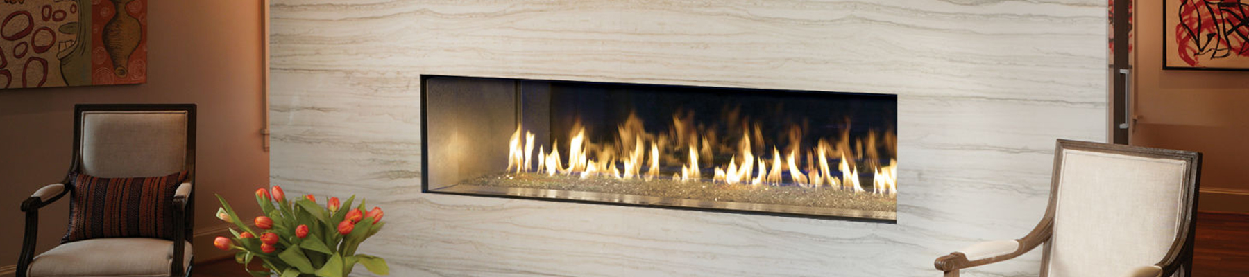 electric linear fireplace